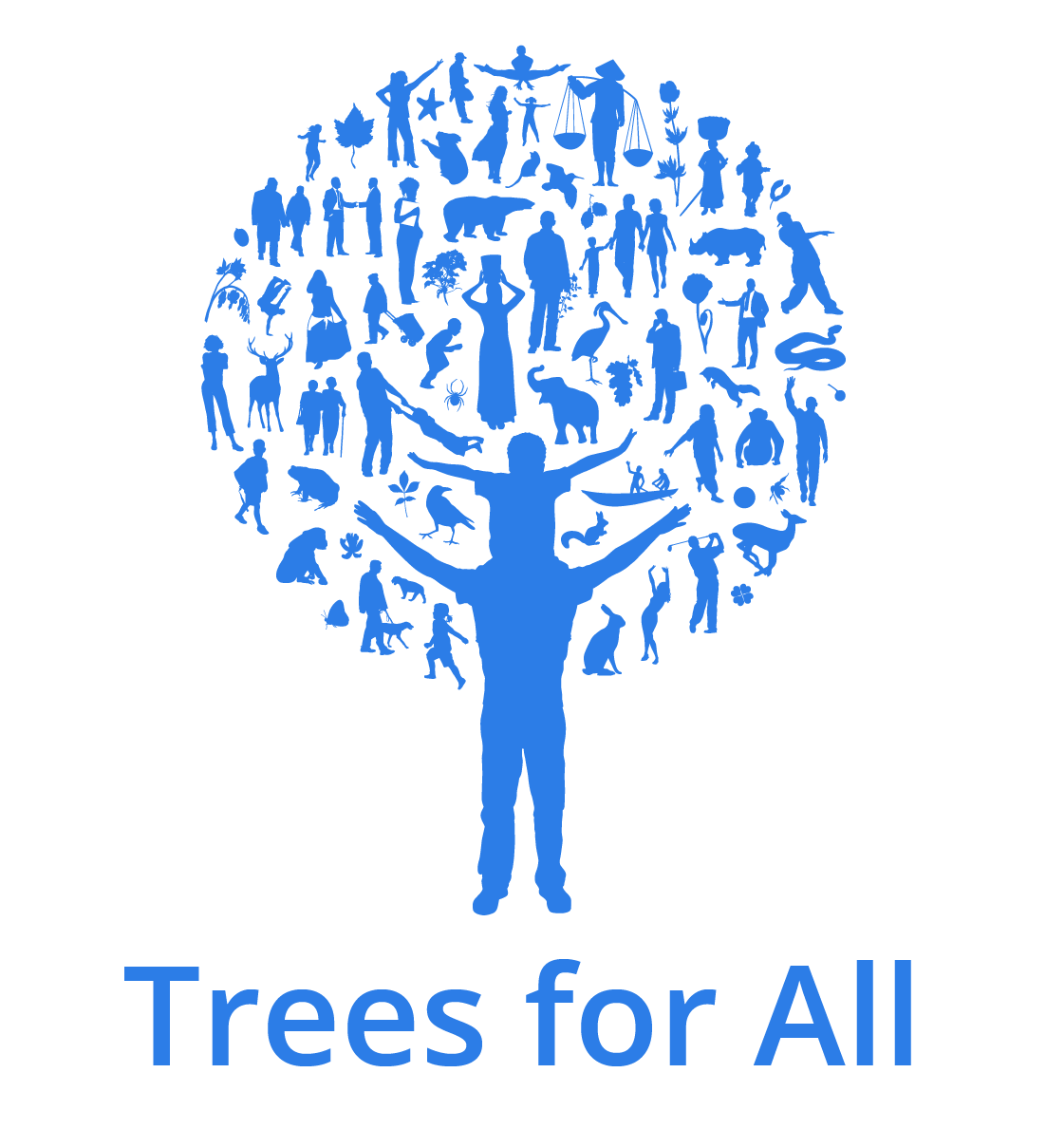 Logo Trees for All (RGB beeldscherm)